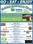Dine-Out & Support Mariposa Habitat for Humanity September 30 Through October 7, 2018