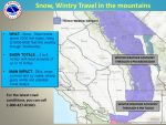 Winter Weather Advisory Issued for Sierra Nevada from Yosemite to Kings Canyon Beginning Tuesday Afternoon