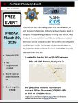 CHP-Mariposa Announces Car Seat Check-up Event on Friday, March 29, 2019