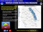 Winter Storm Watch Issued for the Southern Sierra Nevada Beginning Saturday Afternoon