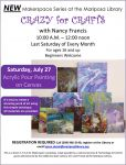 Mariposa County Library to Offer Acrylic Pour Painting Workshop on Saturday, July 27, 2019
