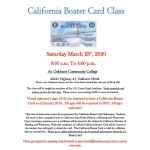 Madera County Sheriff's Office to Host a California Boater Card Class