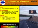 Wind Advisory Issued for Mariposa, Madera, Merced, and Fresno County Foothills Beginning Wednesday