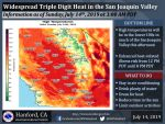 National Weather Service Says One More Day of Very Warm High Temps for Mariposa and Oakhurst Until a Modest Cooling Trend Begins on Monday