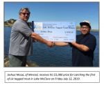 Merced Irrigation District Reports Second Tagged Trout Worth $1,000 Pulled from Lake McClure in Mariposa County in Less Than a Week