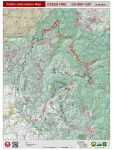 Sierra National Forest Creek Fire Public Information Map for Wednesday, October 28, 2020 - Shows Contained Line and Uncontrolled Fire Edge