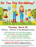 Mariposa County Library to Host Free Workshop for People Who Dig Gardening on Thursday, March 28, 2019
