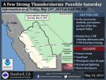 Thunderstorms Possible in Mariposa County, Oakhurst and Yosemite National Park Today (Saturday, May 25)