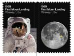 U.S. Postal Service Issues 1969: First Moon Landing Forever Stamps