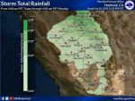 Weather Service Updates Projected Rainfall Totals for Upcoming Weather System for Mariposa, Oakhurst and Yosemite Valley - Begins Saturday Afternoon