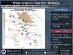 Weather Service Wind Advisory is Now in Effect Until 11:00 A.M. Today - Includes Mariposa, Oakhurst and Yosemite Valley