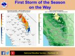 "National Weather Service Says First Storm of the Season on the Way – Up to 2.00"" of Rain in the Forecast for Mariposa County"