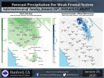 Weather Service Updates Projected Rainfall Totals for Today's (Sunday) Weather System for Mariposa, Oakhurst and Yosemite Valley