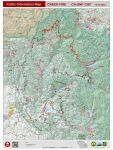 Sierra National Forest Creek Fire Public Information Map for Thursday, October 29, 2020 - Shows Contained Line and Uncontrolled Fire Edge